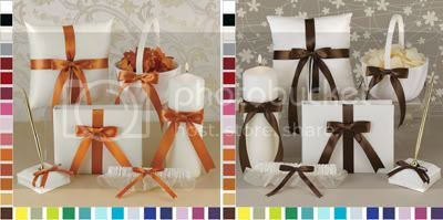 Choose Your Color Wedding Accessories in Spice and Espresso Brown