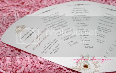 DIY Wedding Program Fans by Aylee Bits