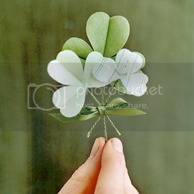 Shamrock Boutonniere from Martha Stewart