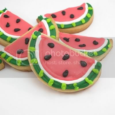 DIY Watermelon Cookies from The Decorated Cookie